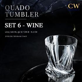 Bộ Ly Cốc Pha Lê Tiệp Dùng Cho Whisky – Ly Shot Crystalite Bohemia Quadro 55ml