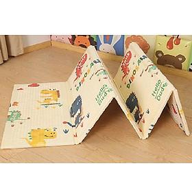 Thảm xốp 2 mặt gấp gọn cho bé chống trơn trượt, chống nước họa tiết Khủng Long