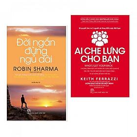 Combo Đời Ngắn Đừng Ngủ Dài + Ai Che Lưng Cho Bạn (Tặng Bookmark Happy Life)
