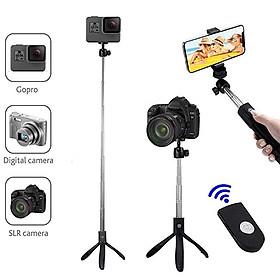 Gậy tự sướng, gậy chụp ảnh 3 chân gấp gọn Selfiecom K05 - Tích hợp chụp hình bằng remote bluetooth - Hàng chính hãng
