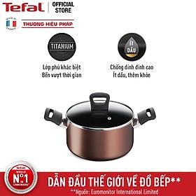 Nồi Tefal Day By Day G1434406 20cm - Độ bền vượt trội cùng lớp phủ Titanium, tiết kiệm dầu ăn - Cảnh báo nhiệt thông minh - Hàng chính hãng
