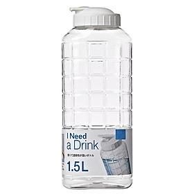 Bình đựng nước nhựa Chess Water Bottle 1.5L Nắp màu trắng