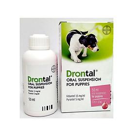 Tẩy giun cho chó con dạng nước Drontal