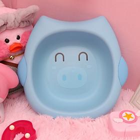 Thau rửa mặt cho bé hình thú ngẫu nhiên ( Tặng 01 khăn lau tay, 01 nút bịt ổ điện )