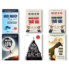 """Bộ Sách Khởi Nghiệp Từ Những Thất Bại Để Vươn Tới Thành Công ( Mơ Ước Lớn – Thì Đừng Hành Động Như Người Tầm Thường , Dám thất bại – Những nỗ lực """"không thành công"""" của bạn đáng giá bao nhiêu? , Đừng bao giờ từ bỏ giấc mơ , Khởi Nghiệp Thông Minh – Đừng Để Những Điều Này Khiến Bạn Thất Bại Khi Khởi Nghiệp ,  Bài Học Để Đời Từ Những Doanh Nghiệp Thất Bại (Tập 2) ,  Bài Học Để Đời Từ Những Doanh Nghiệp Thất Bại (Tập 1) kt"""