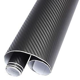 Decal 3D Cacbon màu đen trang trí cho xe hơi, xe máy, điện thoại, máy tính ( 40 x 120 cm)
