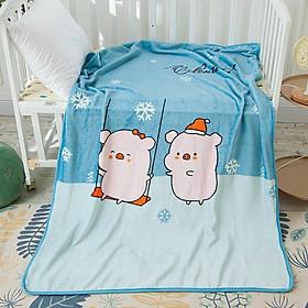 Mền lông tuyết 1 lớp cho bé cao cấp Ánh Sao kích thước 100 cm x 140 cm ấm áp, mềm mại