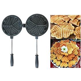 Khuôn Làm Bánh Kẹp Tàn Ong Chống Dính Loại 1 Bánh Nướng Waffle Ăn Kem Thơm Ngon