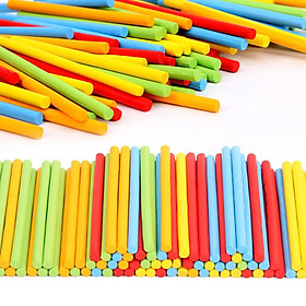 100pcs Wooden Counting Sticks Mathematics Teaching Aids Counting Rod Kids Preschool Math Learning Toys Educational Toy for Child