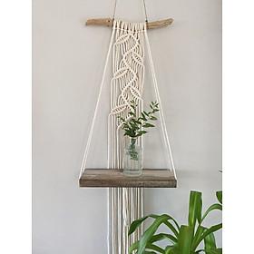 1 dây treo tường trang trí lọ hoa chậu cây macrame handmade