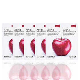Combo 5 gói tẩy da chết sáng da sạch mụn Apple White Peeling Gel minisize
