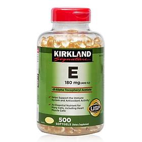 Thực phẩm bổ sung Vitamin E Thiên Nhiên 400 I.U Kirkland Signature 500 Viên Của Mỹ