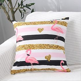 Vỏ gối tựa lưng sofa hồng hạc tropical