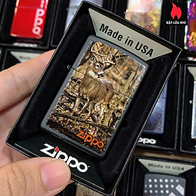 Bật Lửa Zippo 218 Buck In Forest