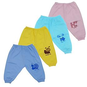 Combo 10 quần Dài sơ sinh cotton Màu Thái Hà Thịnh cho bé trai, bé gái