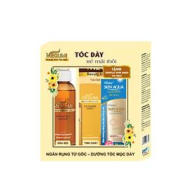 Bộ sản phẩm ngăn lão hóa tóc Megumi (Tinh chất Megumi 50ml và Dầu gội Megumi 175g) + Tặng 1 Sữa chống nắng trang điểm Sunplay Skin Aqua CC Milk 25g