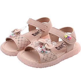 Dép sandal bé gái dép quai hậu cho bé 1 - 5 tuổi hình thỏ ngộ nghĩnh da mềm quai dán cho bé đi học đi chơi SG45