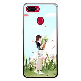 Ốp lưng cho điện thoại Oppo F9 Cô gái với thiên nhiên