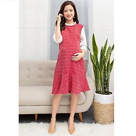Hình đại diện sản phẩm Váy đỏ cho mẹ bầu MVM0004