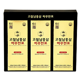 Nước Hồng Sâm Korean Red Ginseng Extract One Day One Stick Kocheolnam 300ml (10ml x 30 Gói)