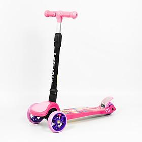 Xe trượt Scooter Centosy 017 hàng chính hãng có thể thay đổi chiều cao 3 nấc cùng với sự phát triển của bé chịu được trọng lượng lên đến 51kg màu Hồng xinh xắn cho bé gái