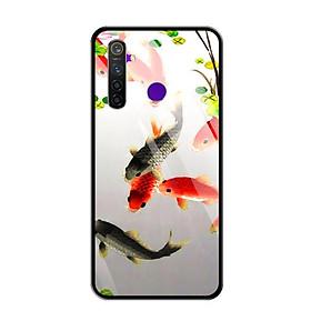 Ốp lưng kính cường lực cho điện thoại Realme 5 Pro - 0150 FISHES03 - Hàng Chính Hãng