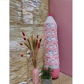 Gối bút chì handmade mẫu pony kì lân unicorn hồng đáng yêu, dễ thương cho bé gái
