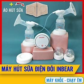 Máy Vắt Sữa Mẹ Bằng Điện Đôi Inbear Extra (IBE-9100) + Tặng Kèm Áo Hút Sữa Rảnh Tay - Máy Hút Sữa Điện Đôi Lực Hút Vô Địch, Kích Sữa Về Nhanh, Hút Êm Không Đau Rát