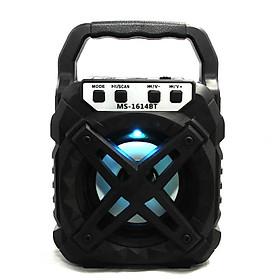 Loa Bluetooth Xách Tay MS-1614BT Âm Thanh Cực Đỉnh Nhỏ Gọn Trong Tầm Tay Có cổng Usb, Thẻ nhớ và giác cắm 3.5mm