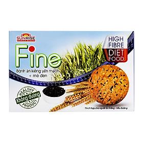 Bánh Yến Mạch + mè đen Fine - Dành Cho Người Ăn Kiêng, Tiểu Đường
