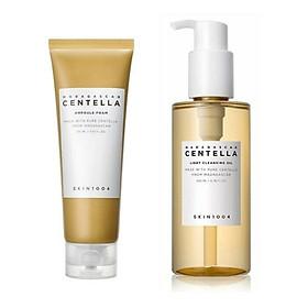 Combo Dầu Tẩy Trang và Sữa Rửa Mặt Dịu Nhẹ, Làm Sạch Sâu Chiết Xuất Rau Má Skin1004 Madagascar Centella (Cleansing  oil 200ml + Ampoule Foam 125ml)