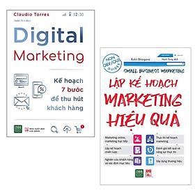 Combo Sách Marketing - Bán Hàng Hiệu Quả: Digital Marketing - Kế Hoạch 7 Bước Để Thu Hút Khách Hàng + Lập Kế Hoạch Marketing Hiệu Quả