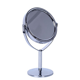 Beauty Makeup Round Double-Side Normal Magnifying Desktop Stand Mirror