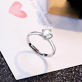 Nhẫn nữ hạt đá nhỏ xinh đơn giản NN10