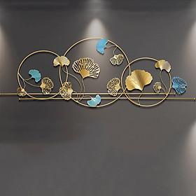 Phù điều trang trí gắn tường( kt162x59cm) - Phù điêu lá ginkgo