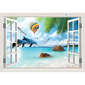 Tranh dán tường cửa sổ 3D | Tranh trang trí cửa sổ 3D | Tranh đẹp cửa sổ 3D | Tranh 3D cửa sổ đặc sắc | T3DMN T6 Human_62831