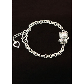 Lắc tay bạc cho bé trai, bé gái, tuổi mão, tuổi con mèo LTT0018