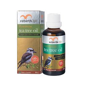 Tinh Dầu Tràm Trà Rebirth Life Platinum Tea Tree Oil giảm mụn, mờ thâm 50ml
