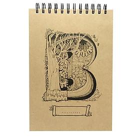 Sổ Sketchbook Alphabet - Hình Chữ B