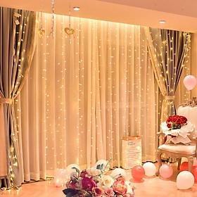 Bộ đèn nháy rèm 3m x 3m trang trí rèm cửa , sinh nhật , đám cưới sang trọng KF-3312
