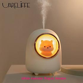 Máy làm ẩm không khí Uareliffe 350ml,Thiết kế hoạt hình dễ thương, Máy khuếch tán siêu âm Độ ồn thấp , tự động ngắt điện, máy lọc không khí Mini ,Máy tạo sương mù làm mát Máy khuếch tán với đèn LED ban đêm cho văn phòng tại nhà