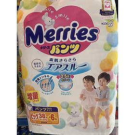 Bỉm quần Merries nội địa Nhật size XL 38+6 miếng-1