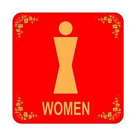 Bảng Chỉ Dẫn Women - BV-004 (Đỏ)
