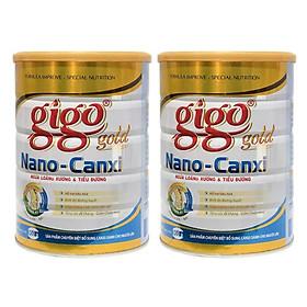 Combo 2 hộp Sữa Bột Gigo Gold Nano-Canxi 900g – Ngừa loãng xương & tiểu đường