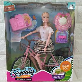 Búp bê đi xe đạp - Búp bê đi dã ngoại