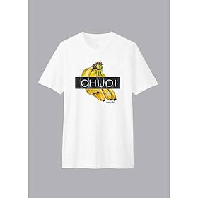 Áo T-shirt Unisex Chuoi B Dotilo D921 - Trắng