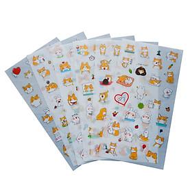 Bộ 6 tấm sticker thú cưng A-1505