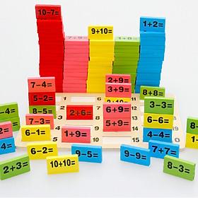 Domino học toán xếp hình bằng gỗ