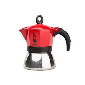ẤM PHA CÀ PHÊ BIALETTI MOKA INDUCTION 3TZ RED 3 CUP (130ML). Hàng chính hãng
