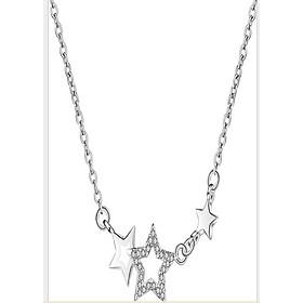 Dây chuyền nữ ngôi sao đính hạt zircon mạ bạc 925 dầy-dc160